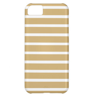 Putty Neutral Stripes Case For iPhone 5C