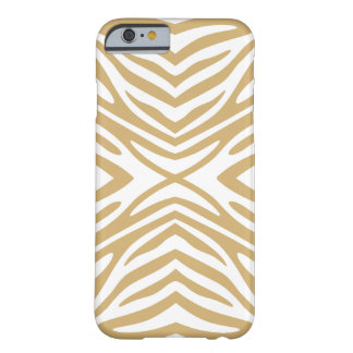 Putty Neutral Zebra Barely There iPhone 6 Case