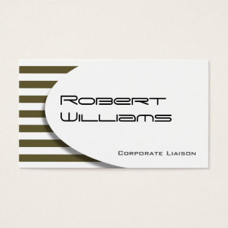 Putty Striped Modern Professional Business Card