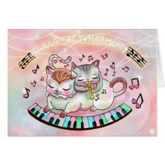 Puurfect Harmony! Adorable Kittens Valentine! Card