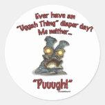 """""""Puuugh!"""" Round Stickers"""