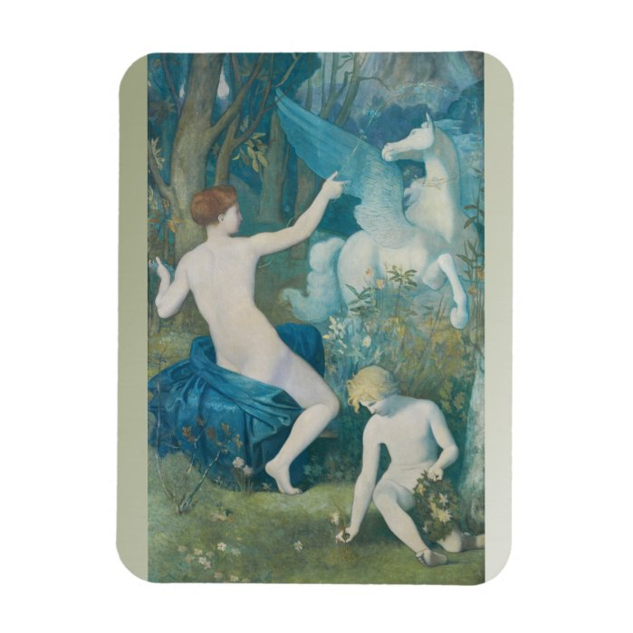 Puvis de Chavannes CC0549 Fridge Art Collection Rectangular Photo Magnet