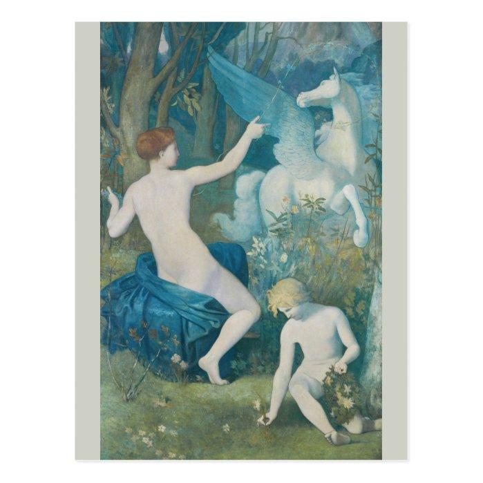 Puvis de Chavannes Fantasy CC0111 Dreamlike Postcard