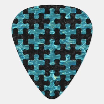 Puz1 Bk-mrbl Watr1 Guitar Pick by Trendi_Stuff at Zazzle