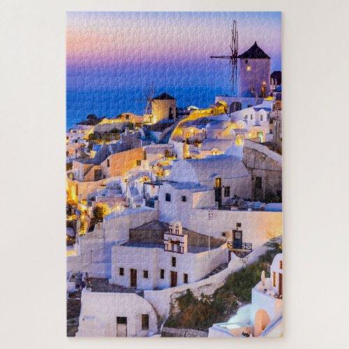 Puzzle 20 x 30 1014 pieces Oia Santorini Jigsaw Puzzle