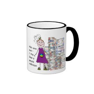 Puzzle addiction ringer mug