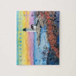 puzzle - art quilt Dawn at Annisquam