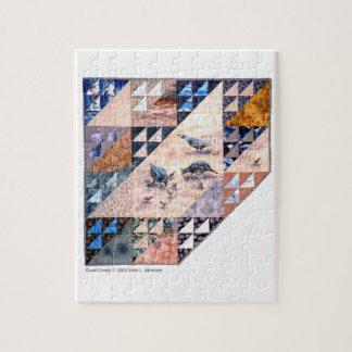 puzzle - art quilt Quail Covey