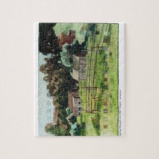 puzzle - art quilt Spring Showers