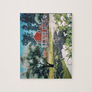 puzzle - art quilt The Farm