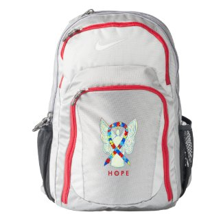 Puzzle Awareness Ribbon Angel Custom Backpack