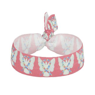 Puzzle Awareness Ribbon Angel Custom Hair Ties