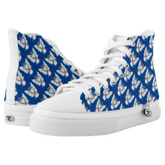 Puzzle Awareness Ribbon Angel Custom High Tops