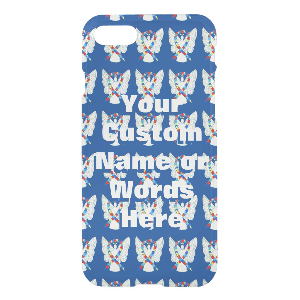 Puzzle Awareness Ribbon Angel Custom iPhone7 Case