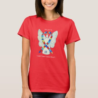 Puzzle Awareness Ribbon Angel Custom Shirts