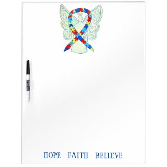 Puzzle Awareness Ribbon Custom Dry Erase Board