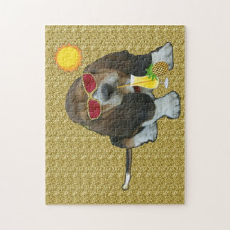 Puzzle Baby Basset Hound Summer Time