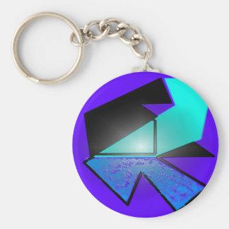 Puzzle Basic Round Button Keychain