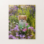 "Puzzle - Bella Pomeranian Secret Garden<br><div class=""desc"">Your guests will just fall to pieces when they see this unique Bella Pomeranian puzzle. Add your own text for that personal touch!</div>"