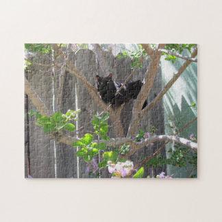 Puzzle - Black Cat in Tree