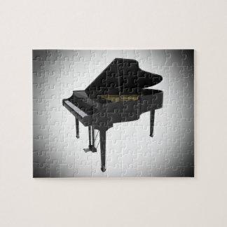 Puzzle: Black Grand Piano Jigsaw Puzzle