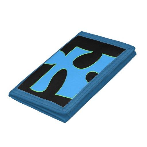 Puzzle, blue black wallet