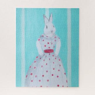 Puzzle Bunny Rabbit Dressed Up