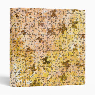 Puzzle Butterflies and Daisies-Browns by STaylor Binder