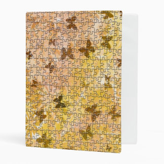 Puzzle Butterflies and Daisies-Browns by STaylor Mini Binder