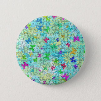 Puzzle Butterflies and Daisies-Colorful by STaylor Button