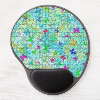 Puzzle Butterflies and Daisies-Colorful by STaylor Gel Mouse Pad