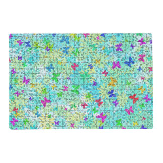 Puzzle Butterflies and Daisies-Colorful by STaylor Placemat