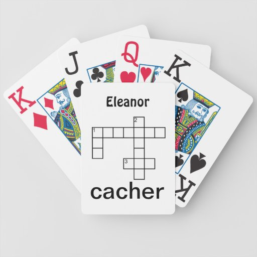 Puzzle Cacher Geocaching Custom Bicycle Card Decks