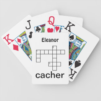 Puzzle Cacher Geocaching Custom Bicycle Playing Cards