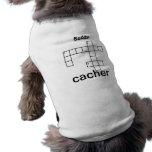 Puzzle Cacher Geocaching Custom Doggie T-shirt