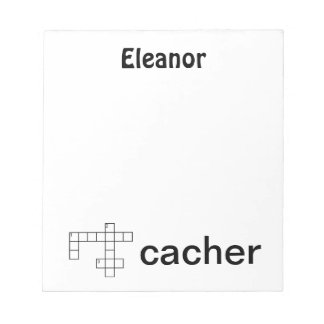 Puzzle Cacher Geocaching Custom Name Notepad