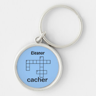 Puzzle Cacher Geocaching Swag or Add Your Name Keychain
