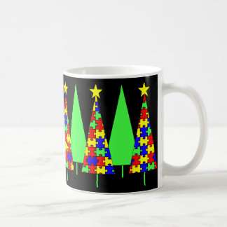 Puzzle Christmas Trees - Autism Awareness Coffee Mug