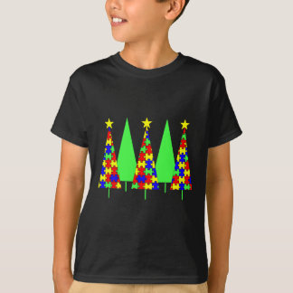 Puzzle Christmas Trees - Autism Awareness T-Shirt
