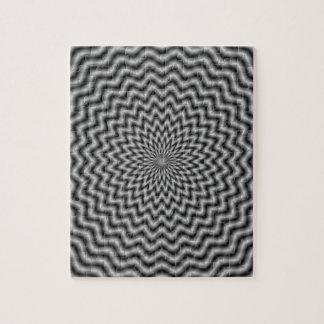 Puzzle  Circular Wave in Monochrome
