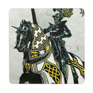 Puzzle coaster of Knight On Horseback