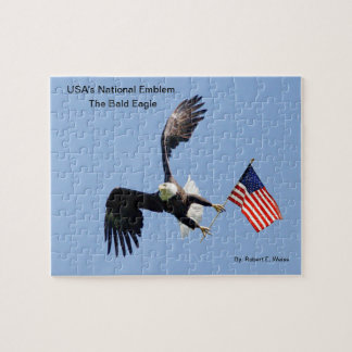 Puzzle depicting the nations National Bird