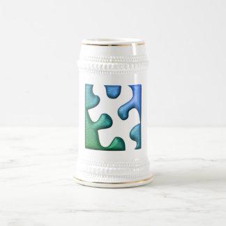Puzzle Design Beer Mug
