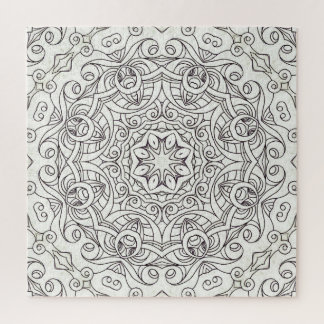 Puzzle Drawing Floral Doodle G2