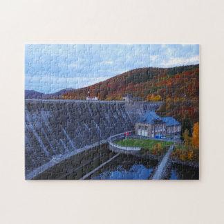 Puzzle Edersee concrete dam in the autumn