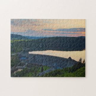 Puzzle Edersee concrete dam sunset