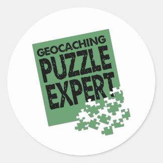 Puzzle Expert Classic Round Sticker