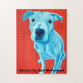 Puzzle featuring pet art by Gail McFarland