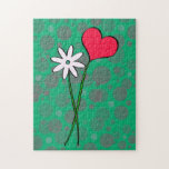 Puzzle - flower and heart