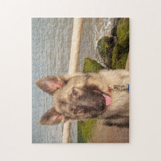 Puzzle German Shepherd By The Sea